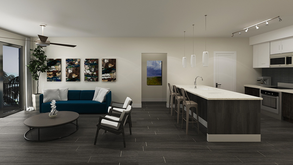Architect's Rendering | Typical Unit Living Room