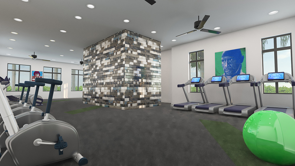 Architect's Rendering | Fitness Center