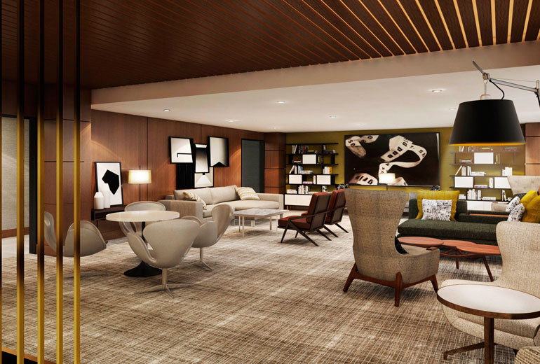 Architect's Rendering | 2nd Floor Lobby