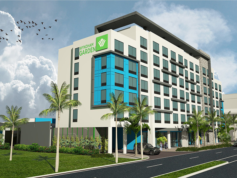 Wyndham Garden Ft. Lauderdale Airport | Architect's Rendering